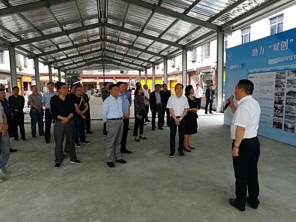 区人大常委会视察东坡区民生实事项目工作情况并召开推进会